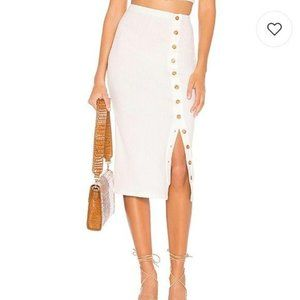 Privacy Please Renee Ribbed Button Down Midi Skirt